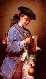 Bilboquê - pintura do século XVII